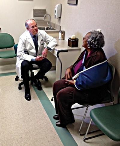 Dr. C. Michael Jones - and a patient