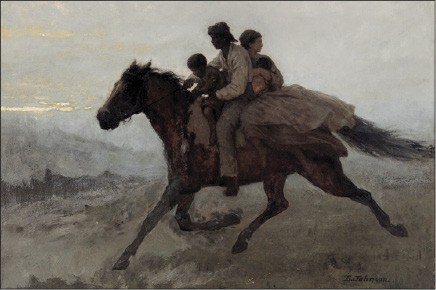 Eastman Johnson's A Ride for Liberty — The Fugitive Slaves, March 2, 1862 (1862)