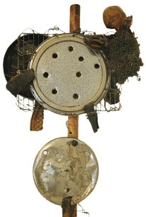 Edwin Jeffrey's untitled scarecrow sculpture at Memphis College of Art