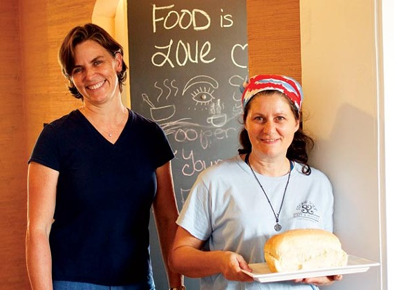 Emily Bishop and Sharon Johnson of Stone Soup Cafe and Market