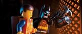Emmet Brickowoski (voiced by Chris Pratt) and Batman (Will Arnett)