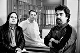 Filmmakers Bruce Sinofsky and Joe Berlinger with Damien Echols (center) on death row in 2009