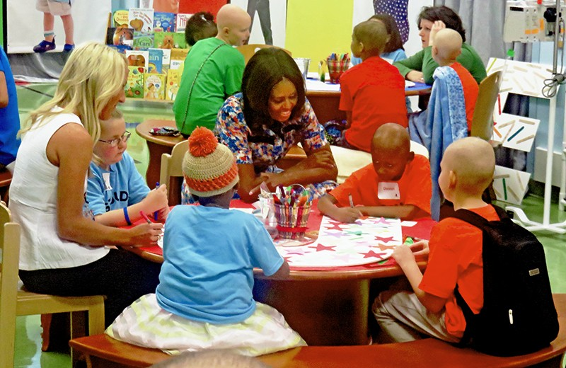 First Lady Michelle Obama at St. Jude - JB