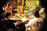 C. MICHAEL ANDREWS - Five in One Social Club hosts weekly art classes.