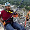 Flyer Staffer Goes Over the Edge