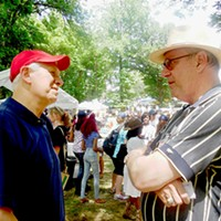 Comparing Notes Former DA and current state Safety Commissioner Bill Gibbons chats it up with state Senator/judicial candidate Jim Kyle at Sidney Chism's picnic. JB
