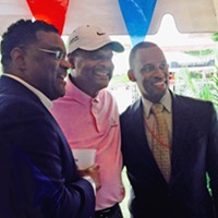 BBQ Fest 2015: How It Went at A C's Tent on Opening Night Forming a trio: Melvin Burgess, Thomas Long, Van Turner JB