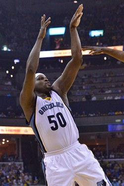 Zach Randolph struggled on defense and only finished with 12 and 11. - LARRY KUZNIEWSKI