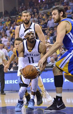 Mike Conley finally started to look tired in Game 4. - LARRY KUZNIEWSKI