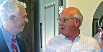 Gibbons and tax critic Bryan Jackson in Athens - JACKSON BAKER