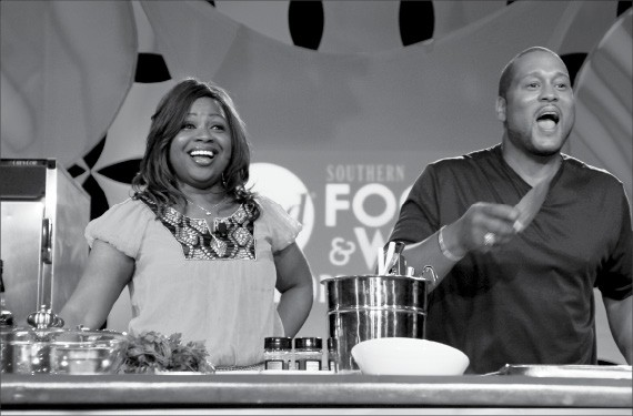 Gina and Pat Neely entertained fans at the Southern Food & Wine Festival.