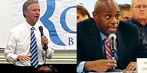 Governor Bill Haslam (left); Superintendent Dorsey Hopson (right)