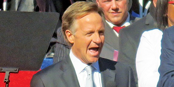 Governor Haslam, here at his re-inauguration, has a more pro-active agenda for his second term.