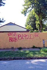Graffiti of a Bloods subset in East Memphis - JUSTIN FOX BURKS