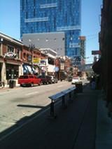 Greektown, a block of restaurants next to the Greektown casino.
