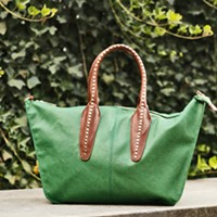 Into the Woods Green bag by Sondra Roberts, $98, from Peria. Justin Fox Burks