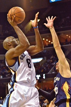 Quincy Pondexter, shown here scoring against his once and future team, will hopefully continue to develop into a quality player in greener pastures. - LARRY KUZNIEWSKI