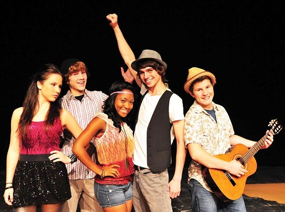 Halle Brown, Curtis Scott, Tierinii Jackson, Chris Hanford, and Trey Jacobs of Disney's Camp Rock: The Musical
