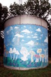 Hand-painted silos dot the landscape of the Farm, a community where vegetarian and ecological values have survived since the 1970s. Look for the Farm's welcome center to learn about what's going on.