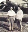 Harry Wilson and chief pilot R.S. Weaver in 1950