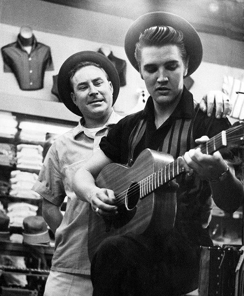 Elvis with Dewey Phillips - COURTESY OF LANSKY'S ARCHIVES