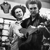 Elvis with Dewey Phillips