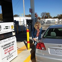 Heather Taylor fuels up at the MLGW CNG  station.