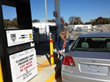 Heather Taylor fuels up at the MLGW CNG - station.