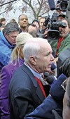 His candidacy fully resurrected, the GOP's John McCain was once again a media cynosure.