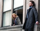 Hit or miss: Elizabeth Banks and Sam Worthington in Man on a Ledge.