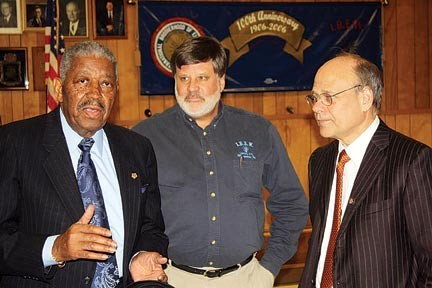 Howard Richardson (left), with Paul Shafer of the IBEW and Rep. Steve Cohen • Howard Richardson, a former president of the Shelby County AFL-CIO Labor Council and a prominent member of the Shelby County Democratic Party, died Sunday at the age of 81 after a lengthy illness. Richardson, a well-liked figure across factional and even party lines, was active in numerous political campaigns, and his South Memphis home was a familiar location for political rallies and social gatherings. A former international vice president of the Hotel Employees and Restaurant Employees Union, Richardson had also been chairman of the NAACP Labor and Industry Committee. He had recently retired as an officer for the Shelby County Democratic Steering Committee. At press time, funeral arrangements had not been released.