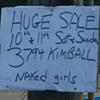 Huge Naked Yard Sale!
