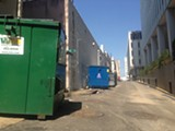 TOBY SELLS - Illegal dumpsters still line the alley between Madison and Monroe downtown.