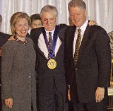 In 1995, Presley received the Presidential Medal of Freedom from longtime fan and personal friend President Bill Clinton.