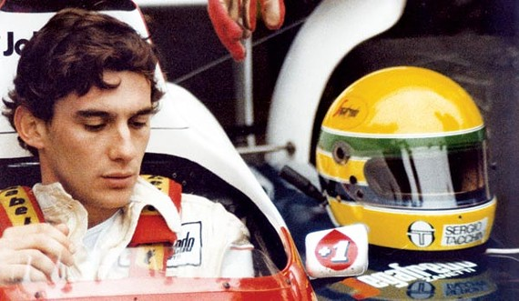 In the driver's seat: Ayrton Senna