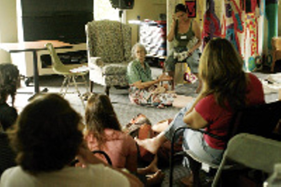 Ina May Gaskin teaches a class in midwifery at the Farm, located south of Nashville. - JUSTIN FOX BURKS