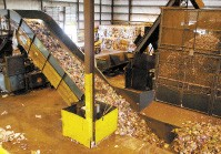 Inside FCR's recycling facility off American Way - JUSTIN FOX BURKS