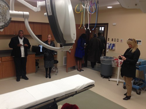 Inside one of Turner Towers new surgery suites.
