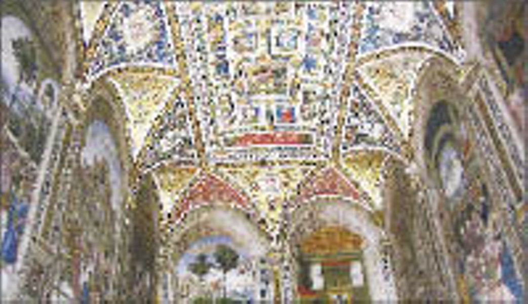Inside the library of Siena's Duomo: frescoes to make you gawk like an idiot
