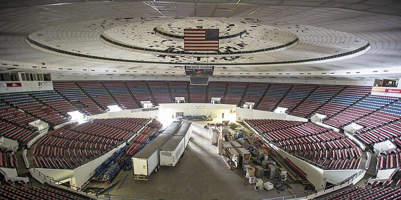 Inside the Mid-South Coliseum  Brandon Dill