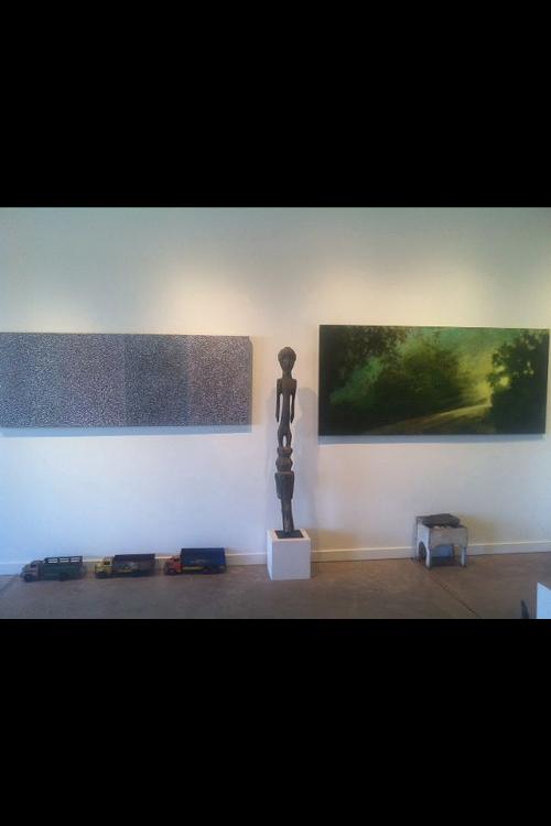 Installation shot (from left: Sheldon Krevit, African Art, Pam Cobb)