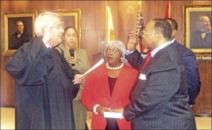 Interim mayor Myron Lowery, right, and Jack Sammons, his new CAO - JACKSON BAKER