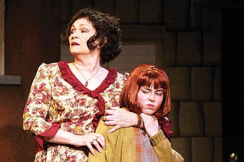 Irene Crist and Sydney Bell in Annie
