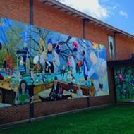 Jason Miller's New Mural at the Gaisman Community Center
