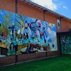 Jason Miller's New Mural at the Gaisman Community Center