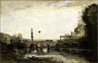 Jean-Baptiste-Camille Corot, Souvenir of Grez-sur-Loing (ca. 1865-70);