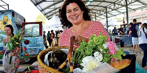 Jennifer Chandler at the Memphis Farmers Market