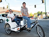 Jeremy Reese and Chris Copeland of Memphis Pedicab Company