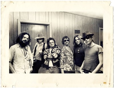 Jerry McGill (right) with a rouges gallery of Memphis musicians in the 1970s. - ROGUES GALLERY