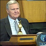 Jerry West grimaces as he hears the bad news.